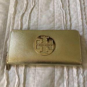 Tory Burch Gold Wallet